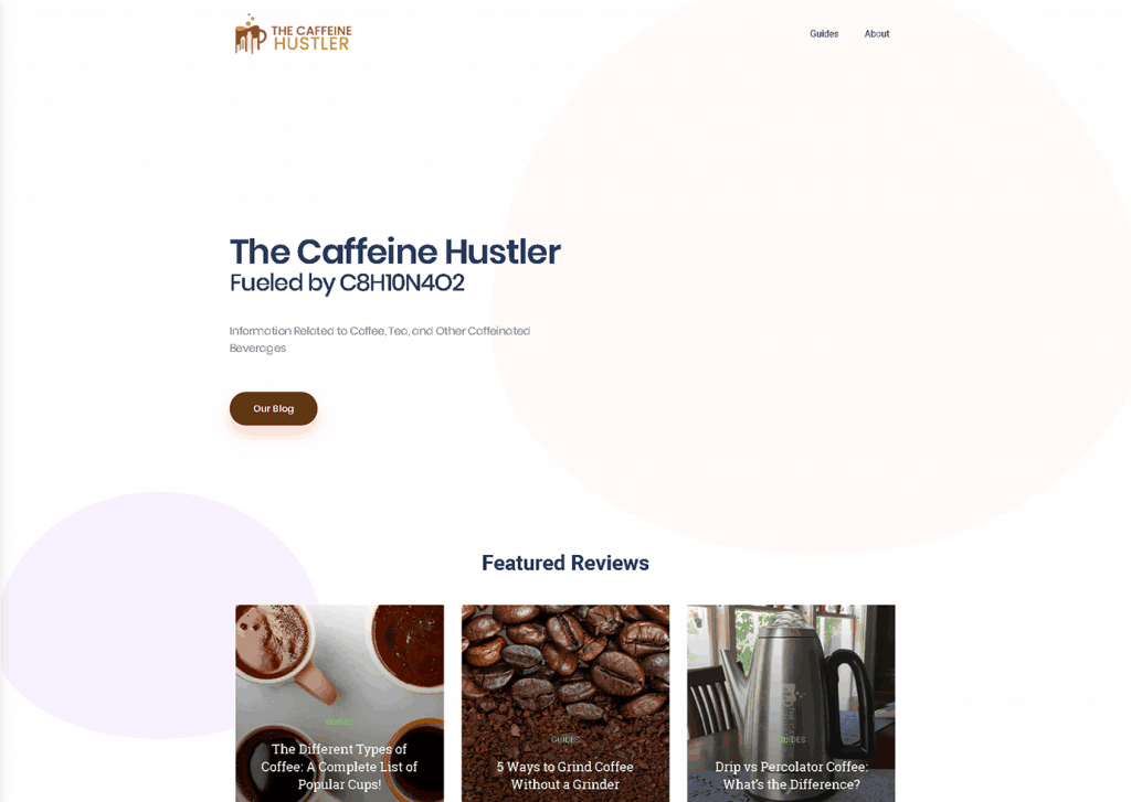 screenshot of caffeine hustler